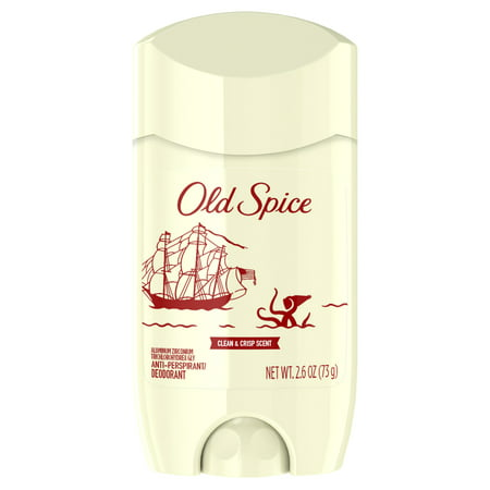 Mens Invisible Set - Old Spice 80th Anniversary Limited Edition Invisible Solid Antiperspirant and Deodorant for Men 2.6 Oz.