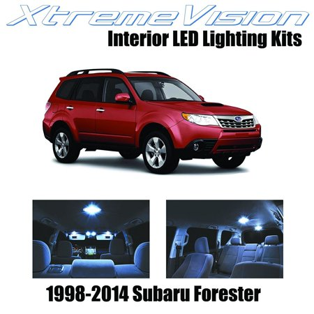 Subaru Forester Interior (XtremeVision LED for® Subaru Forester 1998-2014 (6 Pieces) Cool White Premium Interior LED Kit Package + Installation)