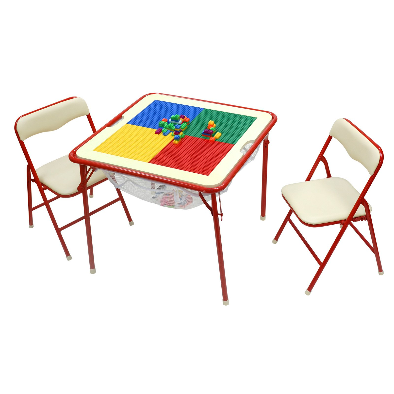 OKids Childrens Metal Flip Top Table and Chair Set
