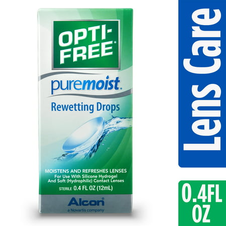 OPTI-FREE Puremoist Rewetting Drops for Contact Lenses, .4 Fl.