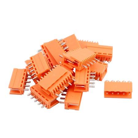 20Pcs AC300V 3 96mm Pitch 12P Straight Needle Plug-In PCB Terminal