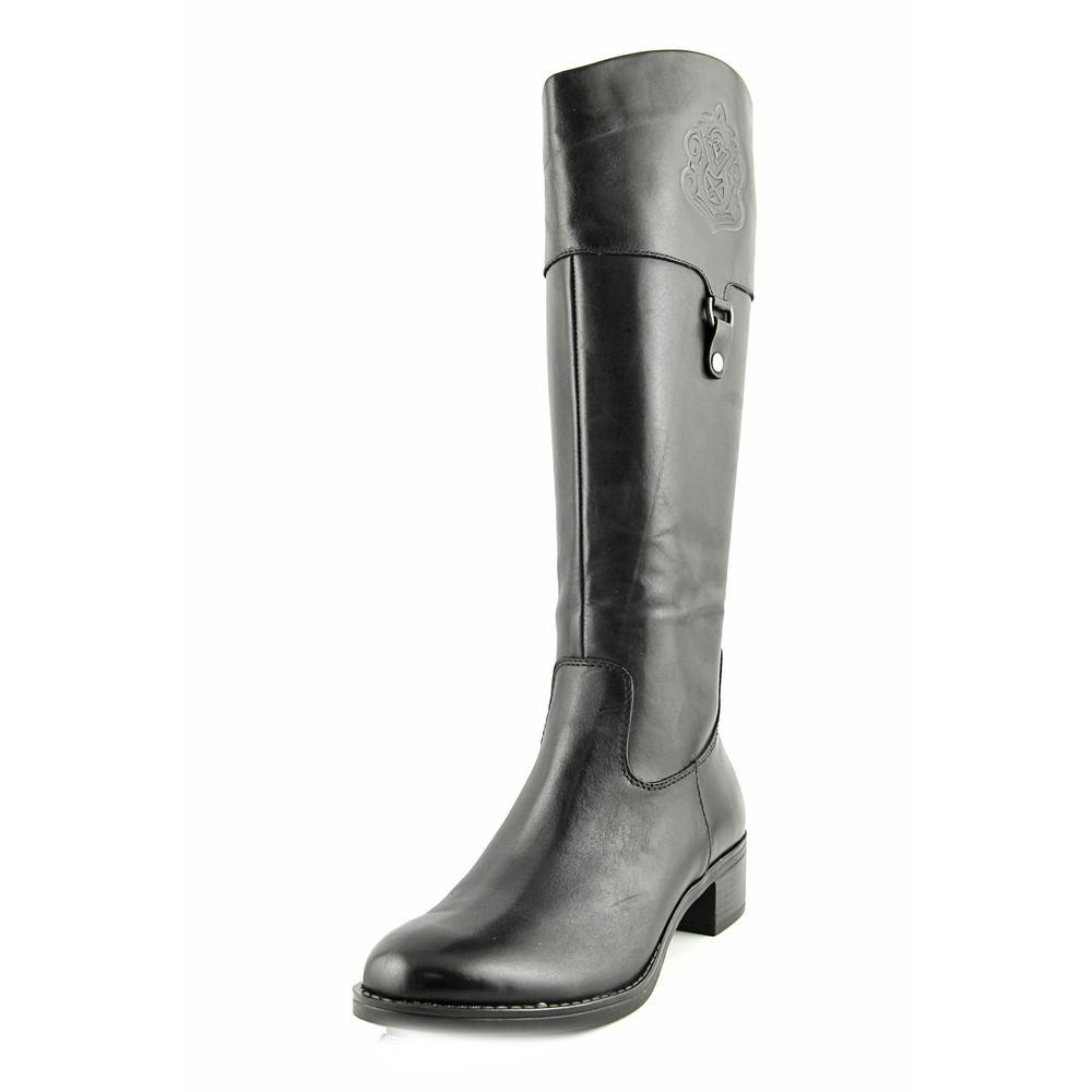 Franco Sarto Clarity Round Toe Leather Knee High Boot by Franco Sarto
