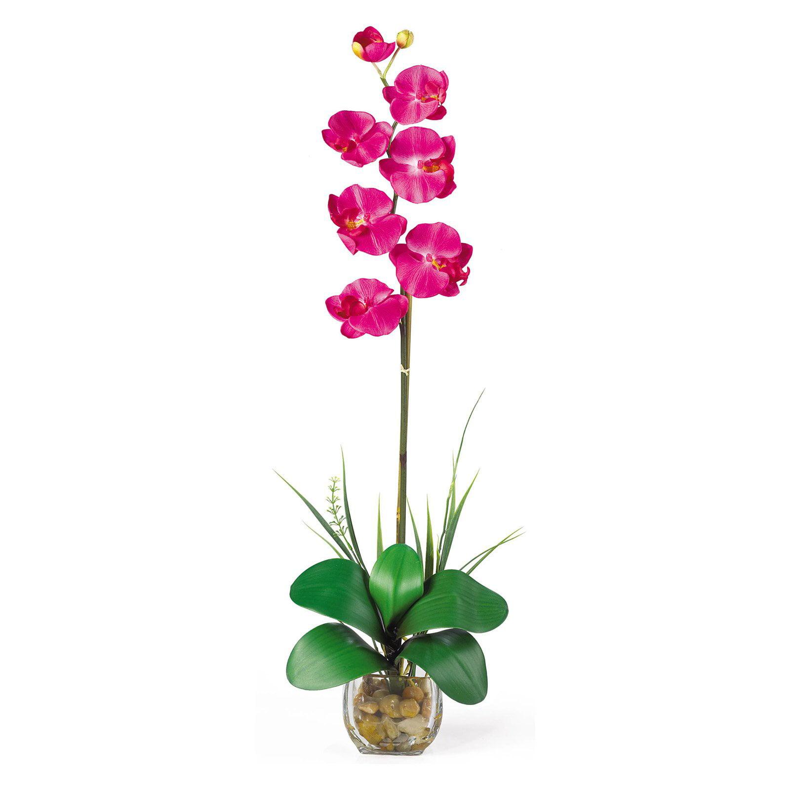 Single Phalaenopsis Liquid Illusion Silk Flower Arrangement, Beauty