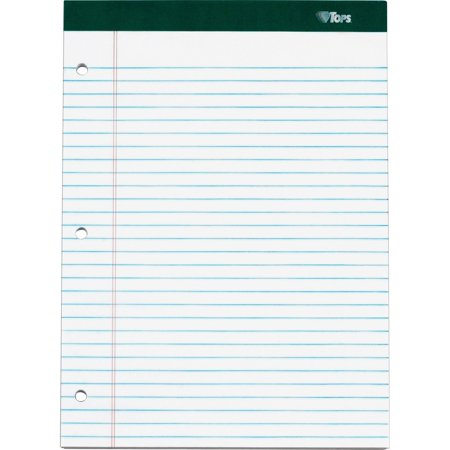 TOPS, TOP63393, Double Docket Ruled Writing Pads - Letter, 3 / Pack