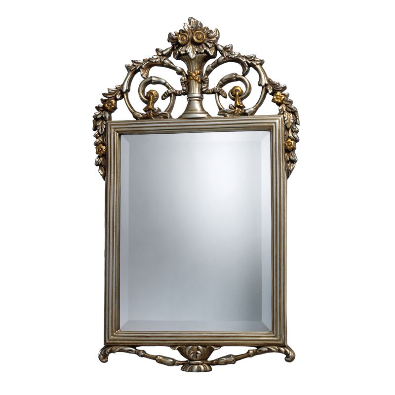 "Sterling Industries Stewart - 18"" Decorative Mirror, Antique Silver With Gold Finish with Clear Glass"