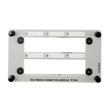 Pass & Seymour Legrand MPP-7534 Modular TRACJACK Patch Panel, 6 Port, Gray