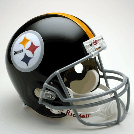 (Pittsburgh Steelers 1963-76 Throwback Riddell Deluxe Replica Helmet)
