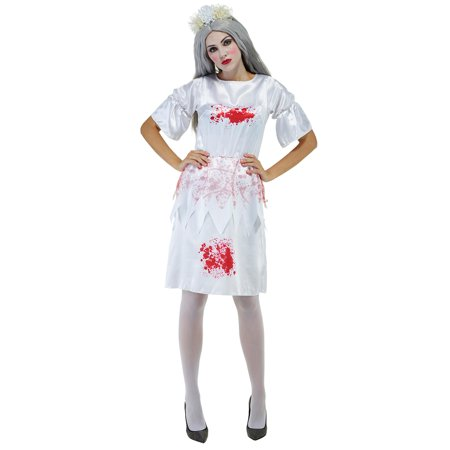 Halloween Bloody Doctor Nurse Costume Women White Dress for Cosplay Dress Up - Bloody Cuts For Halloween