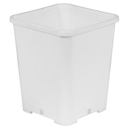 Gro Pro Premium White Square Pot 7 in x 7 in x 9 in (100/Cs)