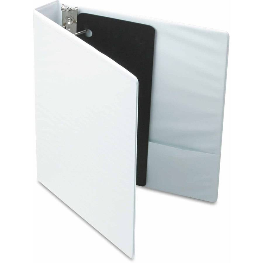 "Cardinal XtraValue ClearVue Slant-D Ring Binder, 1-1/2"", White"