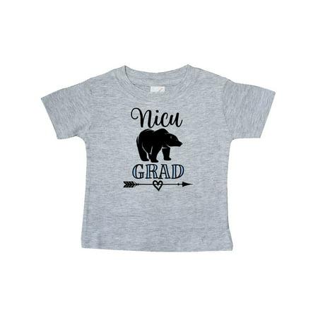 NICU Grad Boys Native Arrow Bear Baby T-Shirt - Native Bow And Arrow
