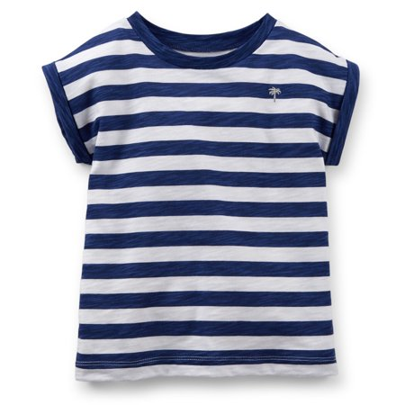Carters Baby Clothing Outfit Girls Short Sleeve Navy Stripe Top (Best Cheerleading Outfits)