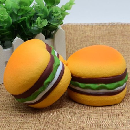 Hamburger Plush - DZT1968Squishy Heart Hamburger Squishy Scented Slow Rising Exquisite Kid Soft Toy