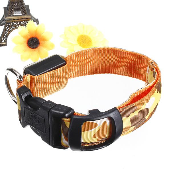 M Pet Safety Collar Adjustable Pet Dog LED Collar Nylon Safety Light-up Flashing Glow Collar
