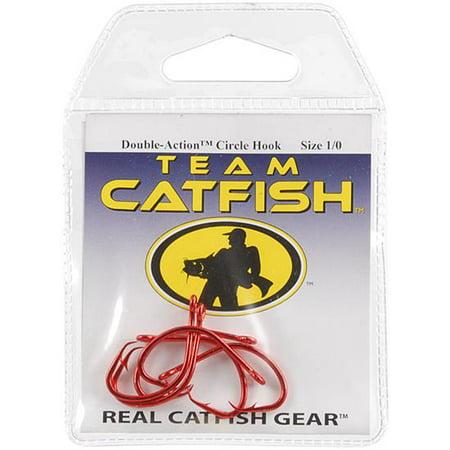 Team Catfish TC84Z-1/0 Double Action Circle Hook, Size 1/0