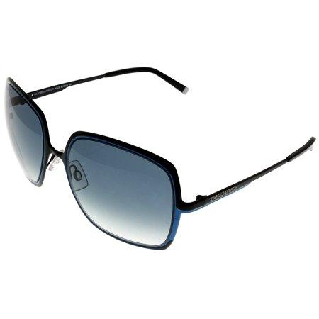 903555288cfa Dsquared2 - Dsquared2 Sunglasses Womens Black Blue 100% UV Protection  DQ0012 05W Square Size: Lens/ Bridge/ Temple: 57-19-135 - Walmart.com
