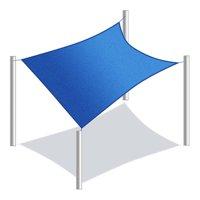 ALEKO Waterproof Sun Shade Sail - Square - 10 x 10 Feet - Blue