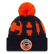 Chicago Bears New Era Youth 2020 NFL Sideline Alternate C Logo Sport Pom Cuffed Knit Hat - Orange/Navy - OSFA