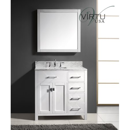 Virtu Caroline Parkway 37 Single Bathroom Vanity Set With Mirror Iii