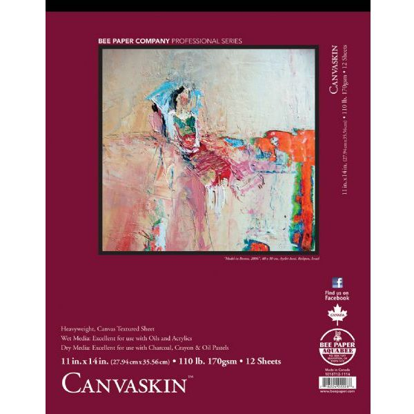 "(Price/PD)Bee Paper B1018T12-1114 CanvaSkin Pad 11"" x 14"""