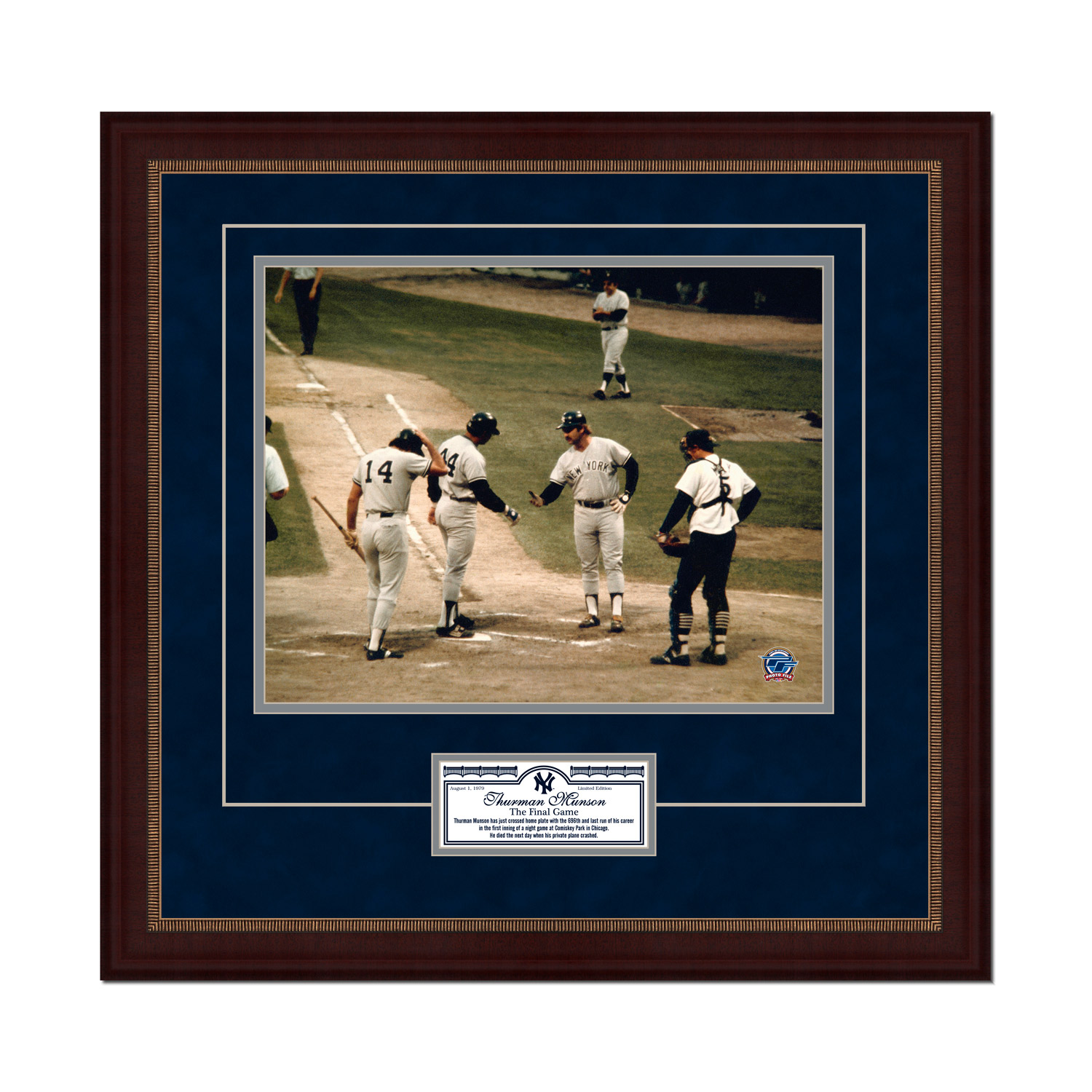 "New York Yankees Thurman Munson 11"" x 14"" Framed Last Game Photo - No Size"