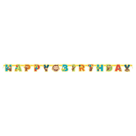 Curious George Birthday Banner, 6.5ft