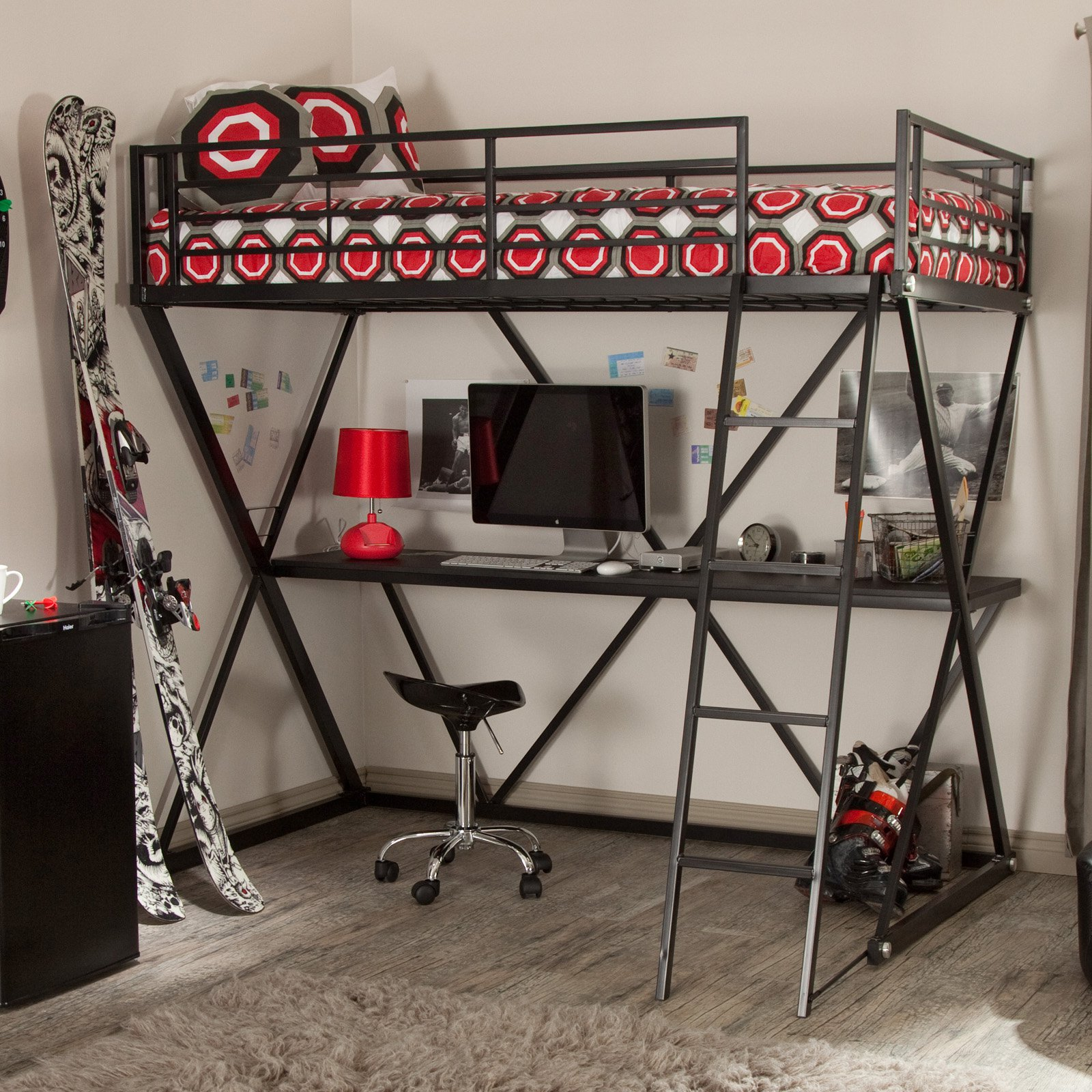 contemporary desk how metal with furniture modern atlantic cool bed charming bunk from