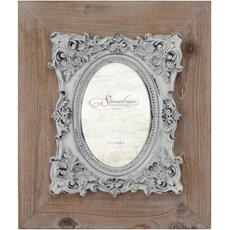 Natural Wood Frame with Baroque Details (Natural Wood Frames)