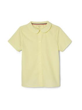 French Toast Girls 4-20 School Uniform Short Sleeve Modern Peter Pan Collar Blouse