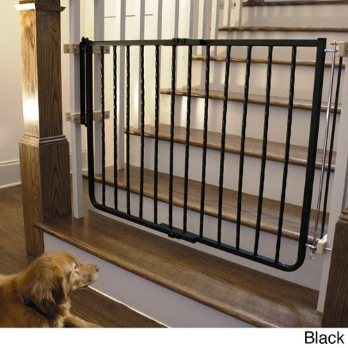 Cardinal Wrought Iron Decor Gate Black
