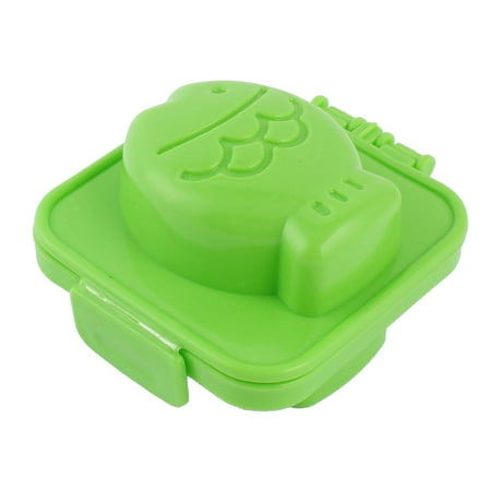 Unique Bargains Kitchen Plastic Fish Shaped DIY Sandwich Bread Egg Jelly Rice Ball Mould Green Big Green Egg Plate Setter