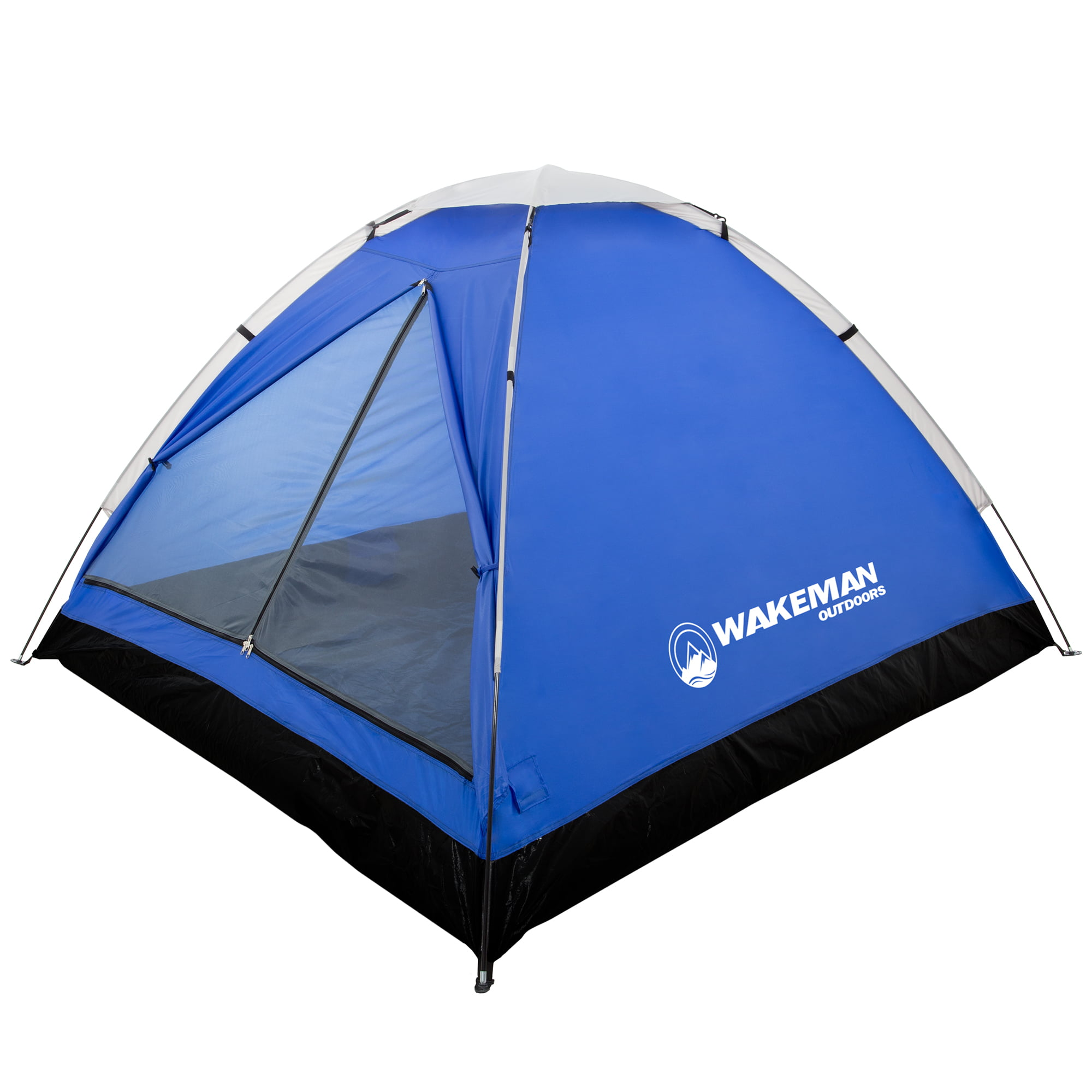 Wakeman 2-Person Tent 75-CMP1021 Water Resistant Dome Tent for Camping with Removable Rain Fly and Carry Bag Lost River 2 Person Tent Outdoors Red//Gray