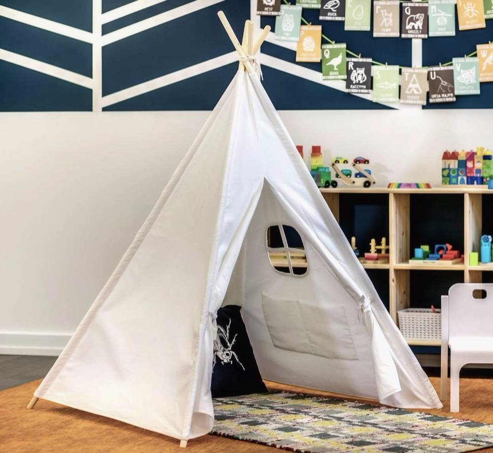 Sprig and Sprouts Kids Large Teepee Play Tent & Sprig and Sprouts Kids Large Teepee Play Tent - Walmart.com
