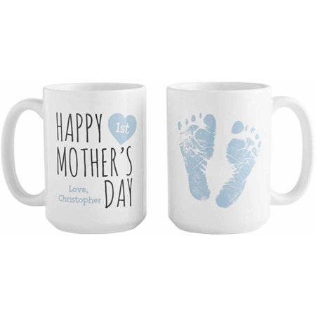 Mother's Day Mugs (Personalized Happy 1st Mother's Day 15oz Coffee Mug, Available in 3)