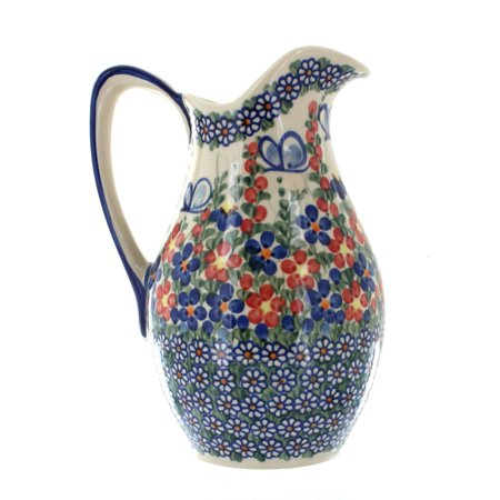 Polish Pottery Garden Butterfly Pitcher