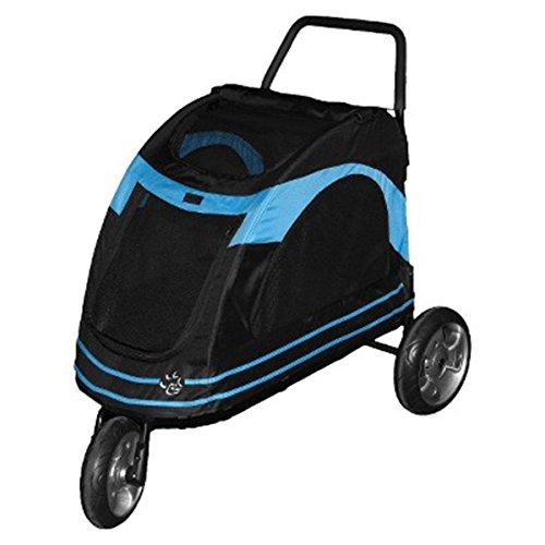 The black/blue Pet Gear Roadster Pet Stroller