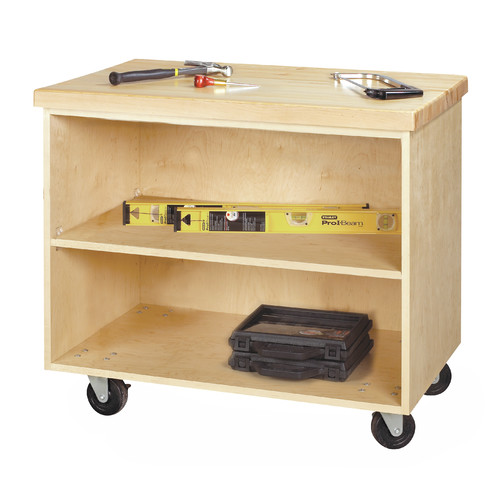 Diversified Woodcrafts Mobile Series 36'' W Wide Bottom Rollaway Chest