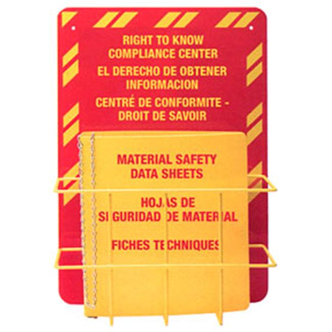 Horizon Manufacturing 3021 Trilingual MSDS Station 2. 5 inch Ring - Holds 400-500 sheets