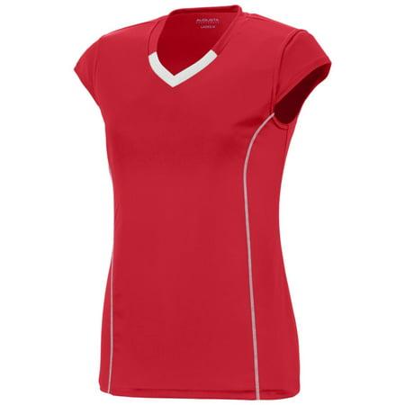 Augusta Ladies Blash Jersey Red/Whi S - image 1 de 1