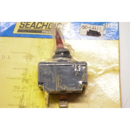 Seachoice Products 12211, 50-12211 Illuminated Toggle Switch 2 Position Off-Momentary On QTY 1