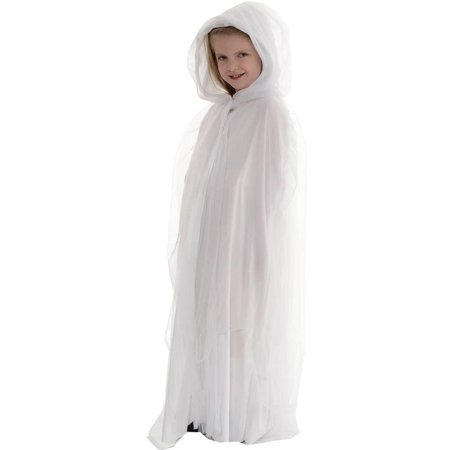 White Hooded Cape (Ghost Child Costume Cape,)