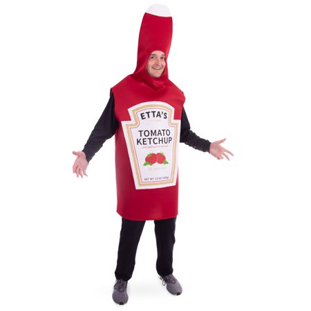 Boo! Inc. Saucy Tomato Ketchup Bottle Halloween Costume | Fun Food, Adult One-Size Unisex - Fun Halloween Foods
