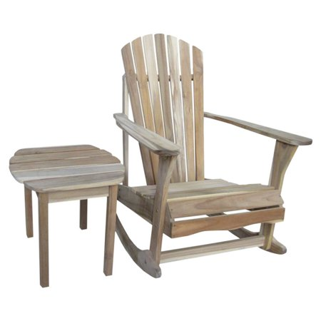 International Concepts Adirondack Rocker with Side Table - 2-pc. Set ...