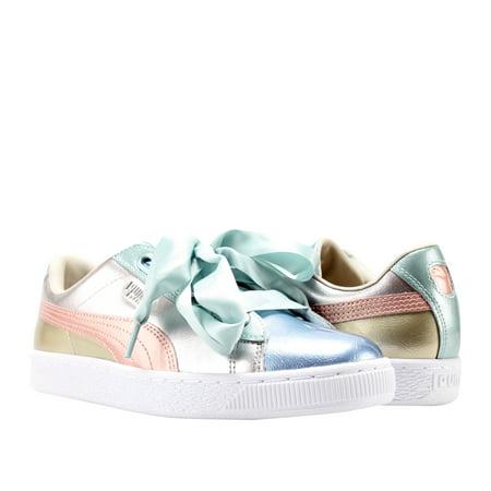 best authentic 42045 81489 Puma Basket Heart Bauble FM Silver Women's Sneakers 36480901