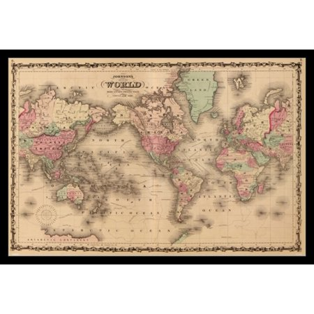Old World Map Poster Poster Print 2 Old World Map