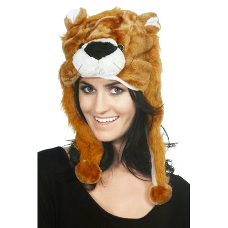 Cartoon Animal Fancy Costume Warmer Hat Cap Beanie Plush Mask (Leopard Beanie)