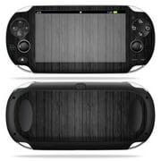 Mightyskins Protective Vinyl Skin Decal Cover for PS Vita PSVITA Playstation Vita Portable wrap sticker skins  Black Wood