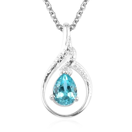 Shop LC Delivering Joy Made with Swarovski Crystal Light Blue Teardrop Pendant Necklace Jewelry for Women Graduation Gifts for Her 20
