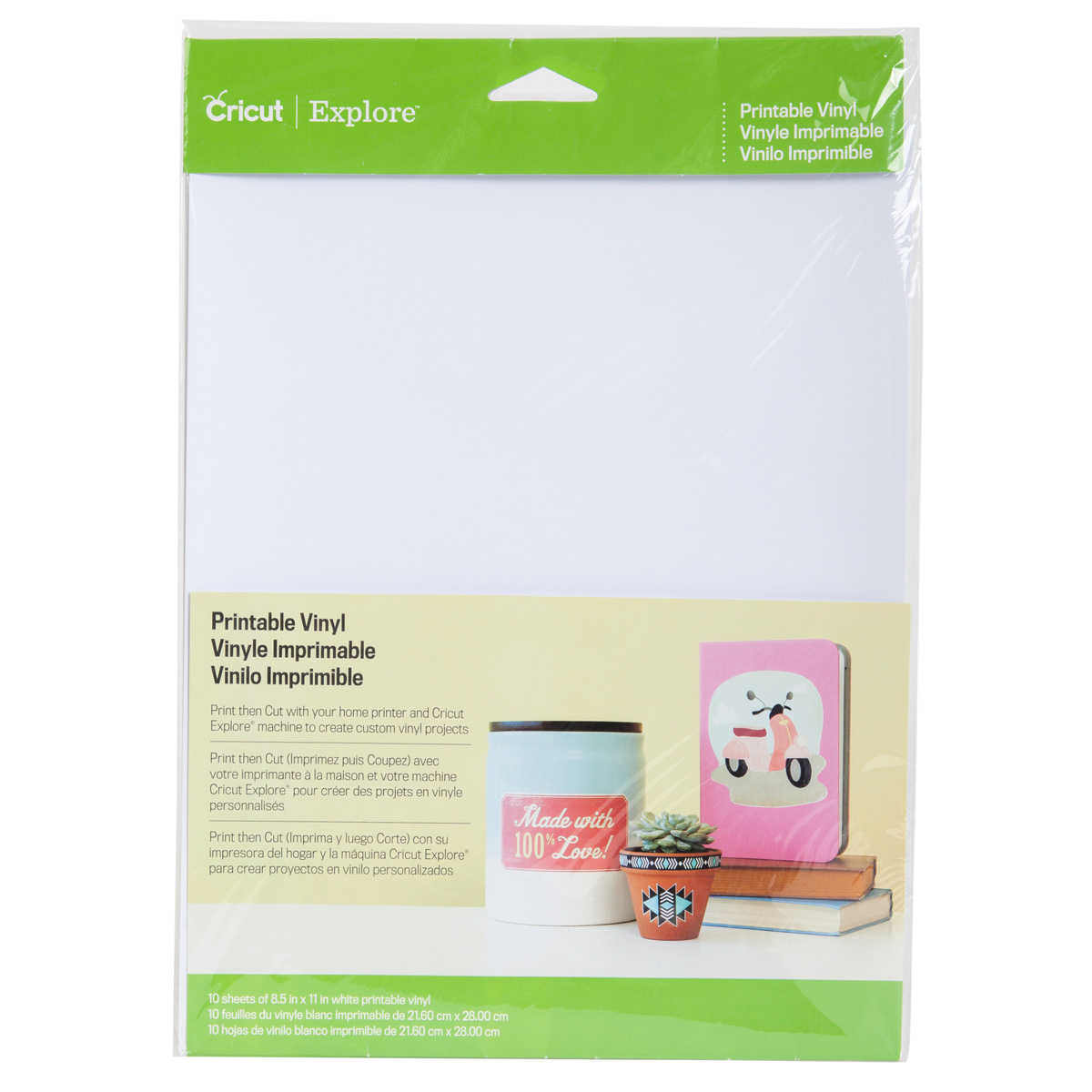 Cricut Printable White Vinyl Sheets: 10 Pack
