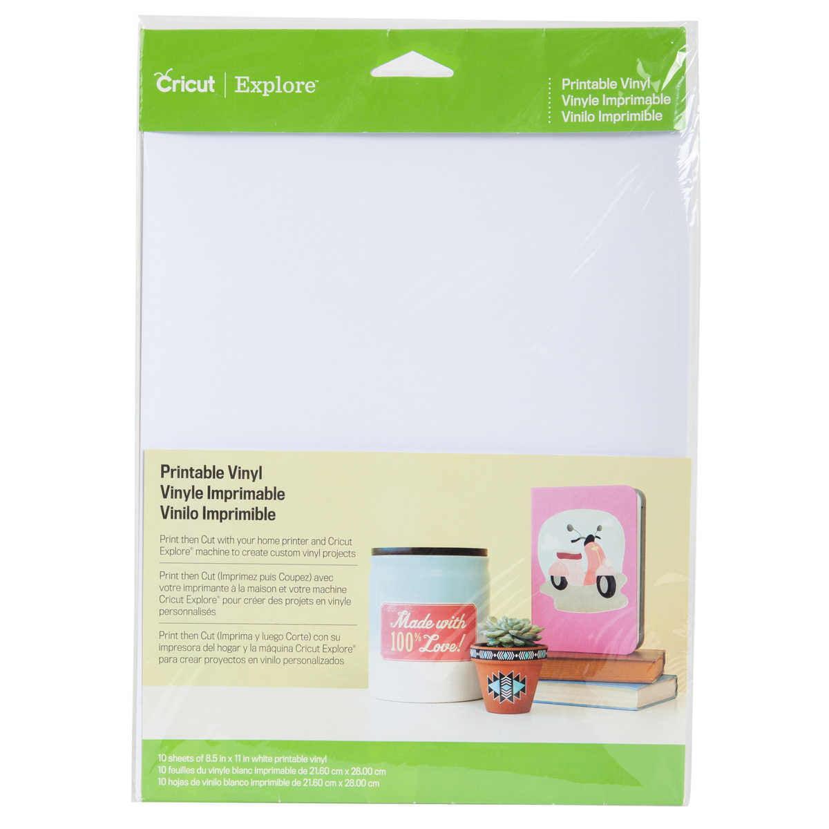 (2 Pack) Cricut printable white vinyl sheets: 10 pack